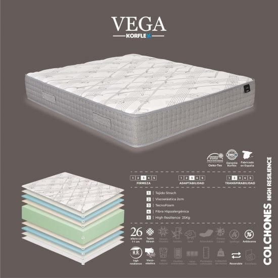 colchón vega korflex
